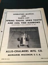 Original ALLIS-CHALMERS Trailer sprayer TPL-510 A Manual  AC