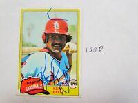1981 Topps Ken Reitz Autographed Signed Baseball Card