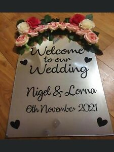 Wedding Welcome Sign A1 Size Vinyl
