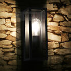 Outdoor/Indoor Vintage Wall Sconce Light Lamp Stainless Steel Porch Yard-Black