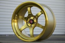 Aodhan AH08 18x8.5 +35 18x9.5 +30 5x100 Gold FRS BRZ Corolla Celica 86 GT86 TC