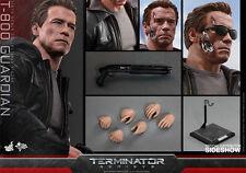 "HOT TOYS Terminator Genisys T-800 GUARDIAN 12"" 1/6 Scale Figure Schwarzenegger"