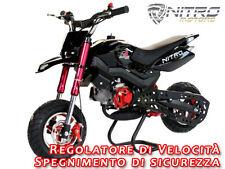 MINIMOTO MOTARD BENZINA HOBBIT.Mini Moto per bambino cross quad bimbo miniquad