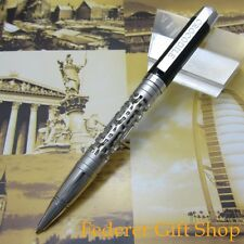 NEW Crocodile High-end design Silver And Black ballpoint pen K989