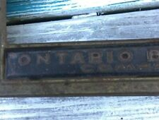 Vtg Ontario Biscuit Co. Store Display Kitchen Canister Lid No Glass Tin Sign