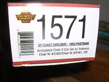 "B.L.I. #1571 S.P.""Coast Daylight""Articulated 2-Chair Car Set #2461 & 2462 H.O."