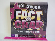 HOLLYWOOD FACT or CRAP Celebrity TRIVIA with Attitude Game - 3-8 Adult players