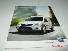 Ford Transit Connect Sales Brochure 2013 Model Year Van Wagon Car Color Interior