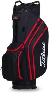 Titleist Golf 2020 Cart 14 Lightweight Bag COLOR: Black/Black/Red Top 14-Way
