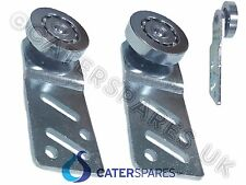 2 X HOT CUPBOARD STRAIGHT REAR SLIDING DOOR RUNNER BEARING HANGER METAL WHEEL