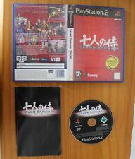 JUEGO PLAYSTATION 2, SEVEN SAMURAI 20XX. PAL ESPAÑA PS2 PLAY2 SAMMY 200XX