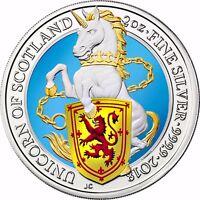 Queen's Beasts Einhorn v. Schottland Großbritannien 5 Pfund Silber 2018 in Farbe
