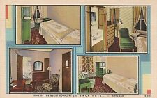 Some of the Guest Rooms at the YMCA Hotel in Chicago IL Postcard