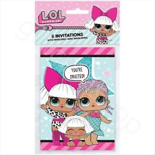 LOL Surprise Doll Party Invitations Girls Birthday Party Invitation Cards - Pk 8
