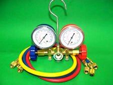 Manifold Gauges Set A/C Tester Service Diagnostic Air Condition  R12 R22 R502