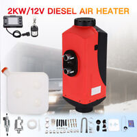 2KW 12 Volt Air Diesel Heater Tank Vent Thermostat Duct For Motorhome Trailer RV