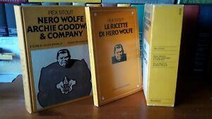 Nero Wolfe Archie Goodwin e company Omnibus + Le ricette di Nero Wolfe