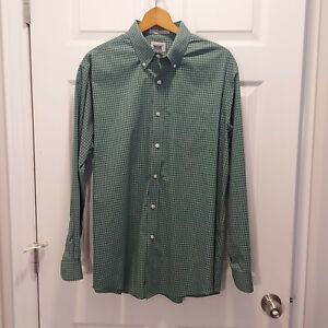 Mens L.L.Bean Green Button Shirt Size Large