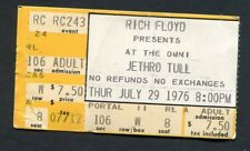 1976 Jethro Tull Rory Gallagher concert ticket stub Atlanta Too Old  Rock'n Roll