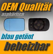 spiegelglas BMW 5er E 39 520 525 530 d 96-03 links beheizbar BLAU außenspiegel