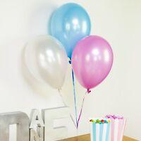 Ballons en latex - assortiment de couleurs métallisées