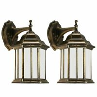 Outdoor Exterior Wall Lantern Light Sconce Porch Lighting Lamp Fixture Twin Pack