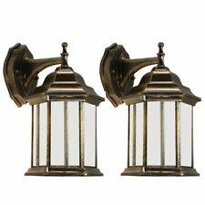 Outdoor Exterior Wall Lantern Light Sconce Porch Lighting Lamp Fixture Twin Pack