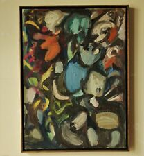 Vintage Mid Century Modern Abstract Painting 1961 Lee Byron Jennings