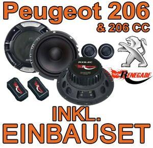 Lautsprecher für Peugeot 206 + SW CC KFZ PKW Auto Einbauset vorne Front Boxen