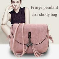 Ladies Small Crossbody Bags Shoulder Tassel Handbag Purse Women Messenger New
