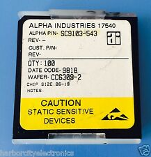 SC9103-543 ALPHA INDUSTRIES CAPACITOR CHIP RF MICROWAVE PRODUCT 100/units total