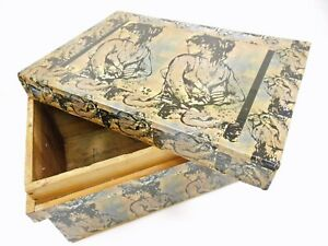 David Bromley Commissioned & CERTIFIED decoupage BOX - ONE OFF 43x29x21cm WOOD