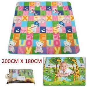 Kids Crawling 2 Side Play Mat Educational Game Soft Foam Picnic Baby 200 x 180CM