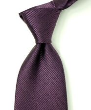 "$250 NWT TOM FORD Purple w/ Textured Tonal Stripes Silk Neck Tie Italy 3.1""W"
