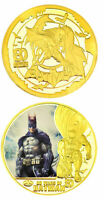●●  RARE MEDAILLE PLAQUéE OR : BATMAN  ● TYPE 1 ●● B150