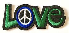 Love Peace Aufnäher / Aufbügler patch Frieden No war Punk Emo Rockabilly Liebe