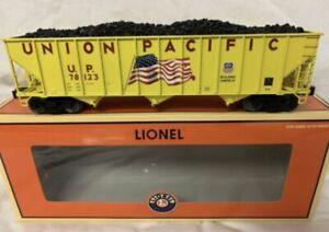 ✅LIONEL DIE CAST UNION PACIFIC FLAG 3 BAY COAL HOPPER CAR 6-27432! UP HERITAGE