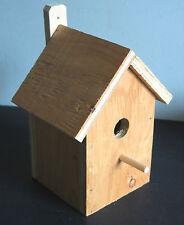 Bare Wood Bird House Yard Patio Garden 9x6.5x6 hand made fairy primitive FREE SH