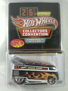 Hot Wheels 2012 26th Annual Collectors Convention VW Drag Bus Low # w/sticker
