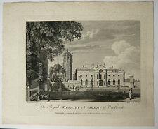 Gravure XVIIIe MICHAEL ANGELO ROOKER 1775 SANDBY Royal Military Academy Woolwich