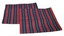 2 RALPH LAUREN Carlisle Red & Blue Stripe STANDARD SHAMS NEW RARE