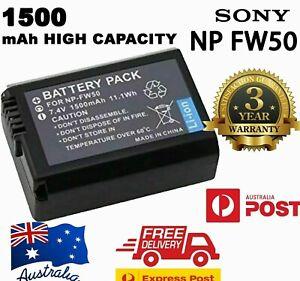 NEW 1500mAh NP-FW50 Battery For Sony A6300 A6000 A5000 A7R, NEX-7 NEX-5T AU