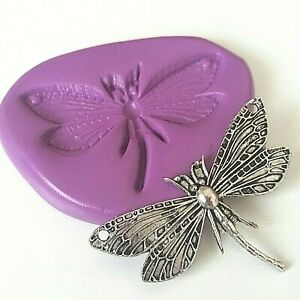 DRAGONFLY Silicone Mould 49 mm Sugarcraft Cake Decorate Polymer Clay Sugarpaste