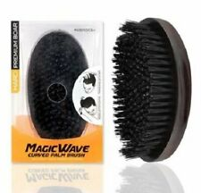Premium Boar Magic Wave Curved Palm Brush (HARD)