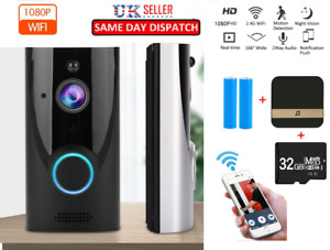 1080P Wireless Video Doorbell Smart WiFi Intercom Door Bell Ring Security Camera
