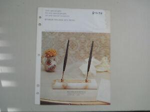 Parker Vintage l968 4 page desk set color catalog sheet