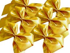 60 Finished Gift Grind Colour Gold, Fabric Ribbon Metallisert, with Band