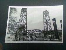 Nederland ansichtkaart Rotterdam Hefbrug verzonden 1956