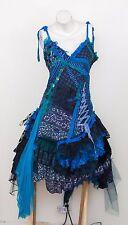 Naturally Bohemian Fairy Goth Shabby Chic Lace Blue Black Dress Lolita Cosplay