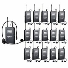 Takstar WTG-500 UHF Tour Guide Wireless System 1 Transmitter with 15 Receivers